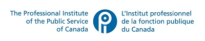 PIPSC logo - Blue - Horizontal - Centered - Bilingual (English first)